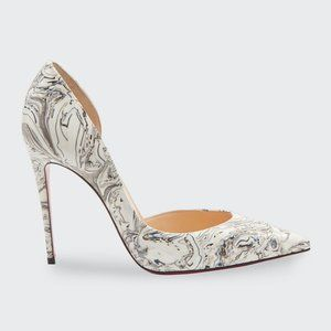 CHRISTIAN LOUBOUTIN 'Iriza' Marble Open-Side Pumps